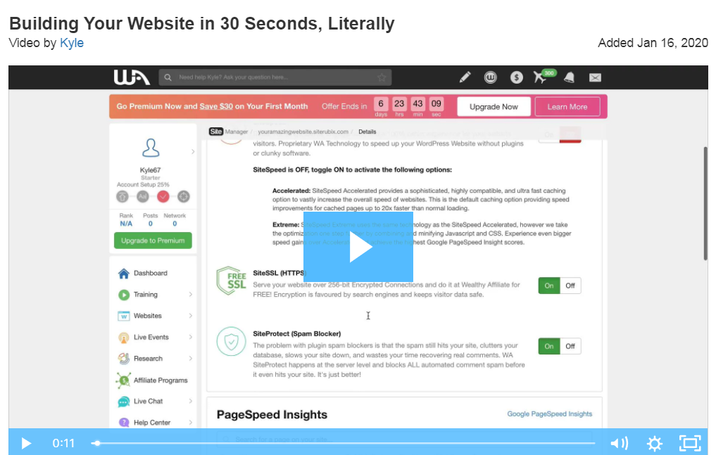 Building a website in 30 seconds or less