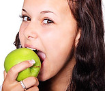 Is Bicycling Good Exercise - girl eating apple