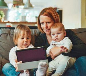Type 1 Diabetes Books - reading on laptop