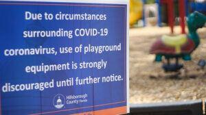 Corona Virus and Kids - COVID-19 sign