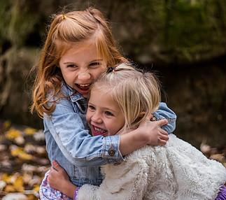 I Need to Hug - sisters hugging