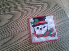 Easy Homemade Christmas Gift Ideas - plastic canvas coasters