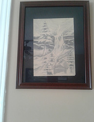 Inexpensive Homemade Christmas Gift Ideas - our son's sketched picture