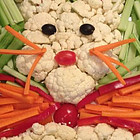 Easter and Diabetes - bunny veggie tray