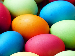 Easter and Diabetes - coloured hard boiled eggs