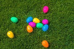 Easter and Diabetes - plastic eggs for egg hunt